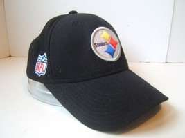 Pittsburgh Steelers NFL Football Hat Black Reebok Hook Loop Baseball Cap - $15.36