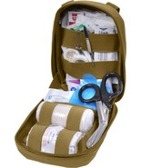 Coyote Brown MOLLE Tactical Trauma Kit Fully Stocked - $48.99