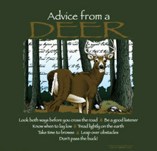 Deer Sweatshirt Small Medium Advice From a Nature Green NWT Fun Quality NEW - $25.25