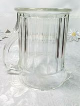 """Vintage Ribbed Glass Pitcher With Flat Bottom 6 1/3"""" x 7"""" x 4 3/4"""" image 3"""