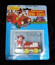 Disney Collectable Diecast Mickey Mouse Fire Engine Arco Mattel New - $18.99