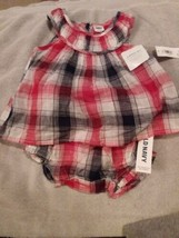 Old Navy Infant Girls Plaid Sun Dress w/Bloomers 3-6M - $8.00