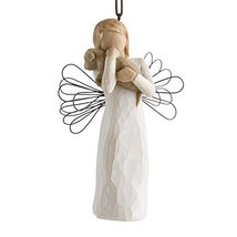 Willow Tree hand-painted sculpted Ornament, Angel of Friendship image 3