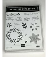 Stampin Up Happiness Surrounds Photopolymer Stamp Set 14 Words Congratul... - $17.99