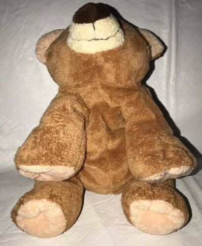 Ty Pluffies 2002 Plush Brown & Tan SLUMBERS the Bear Soft Stuffed Animal