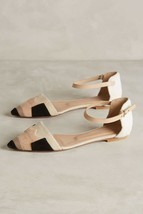 $280 NWOB Anthropologie Hoss Intropia Color-Patched D'Orsay Flats Sz 40 ... - £77.66 GBP