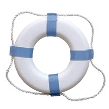 Taylor Made Decorative Ring Buoy - 24 - White/Blue - Not USCG Approved - $51.21