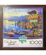 Buffalo Games Big Bear Lodge 1000 PC Jigsaw Puzzle Darrell Bush 12004 2019 - $13.51