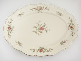 "Rosenthal Antoinette Moss Rose 15"" Oval Platter Pompadour Shape Mint Con... - $42.56"
