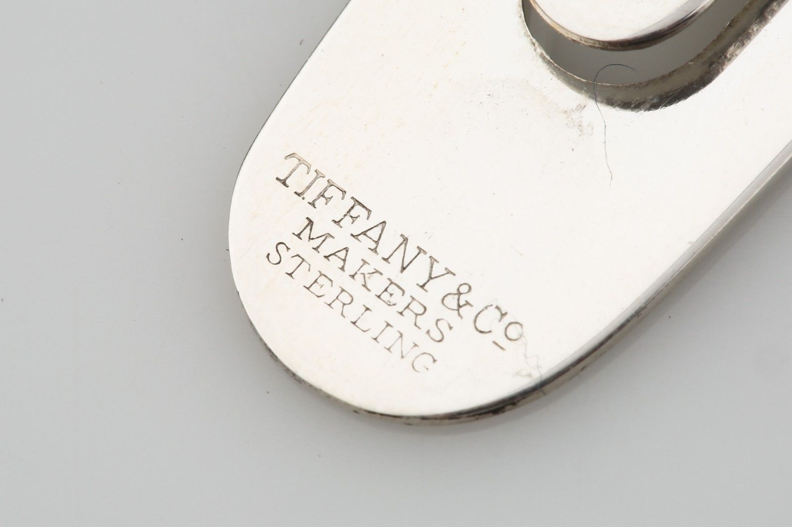 Autentico Tiffany & Co Macchina Sterling Color Argento Acero Foglia Segnalibro image 4