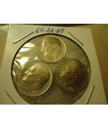 1965 - 1967 ROOSEVELT DIME COINS               S&H + C/S - $2.96