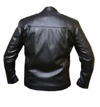 Steve Mens Gulf Le Biker Mans MC Synthetic Leather Queen Jacket image 7