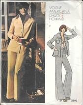 Vintage Vogue Americana #2992 Designer Chuck Howard Misses' Jacket & Pants - $12.00