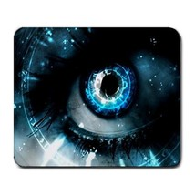 Mouse Pad Hot New 3D Eyes Vision With Blue Art Design For Gaming Fantasy Anime  - $6.00