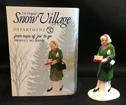 Dept 56 Snow Village Four Cups Of Joe To Go #808954 IOB - $29.99