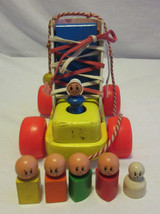 Complete Vintage Playskool Wooden Pull Toy Old Woman Who Lived in a Shoe... - $29.99