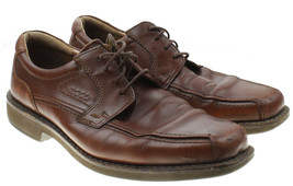 Ecco Mens Congac Brown Bicycle Toe Oxford Lace up Shoes Size EU 43 US 9-9.5 - $14.84