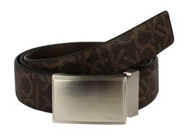 Calvin Klein Ck Men's Leather Reversible Buckle Belt 3 Piece Set Box Brown 74360 image 2
