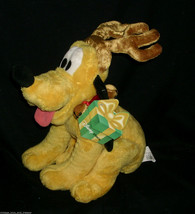 DISNEY STORE REINDEER PLUTO PUPPY DOG CHRISTMAS STUFFED ANIMAL PLUSH TOY... - $31.09