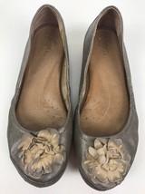 Anthropologie Naya Metallic Rustica Ballet Flats Shoes Leather Womens Si... - $24.18