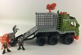 Imaginext Jurassic World Dinosaur Hauler w Owen Blue Playset Transport V... - $44.50