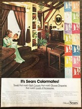 1976 Sears Colormates Print Ad Bath Carpets Match Shower Draperies - $8.47