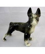 Boston Terrier Dog Styson China USA Large Figurine Black White - $74.95