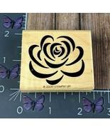 Stampin' Up! Rose Clip Art Flower Rubber Stamp 2000 Outline Sketch Wood ... - $2.72