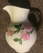 "Vintage Franciscan Desert Rose 64 oz. Water Pitcher  9"" Hand Painted - $64.34"