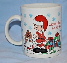 Precious Moments Coffee Mug Christmas Collectible Enesco  - $9.89
