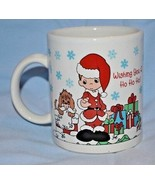 Precious Moments Coffee Mug Christmas Collectible Enesco  - $9.89