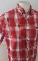 Carhartt Men's Small Short Sleeve Red Plaid Shirt Checkered - $15.88