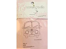 Stamping Bella Daisy VW Unmounted Rubber Stamp #KS146
