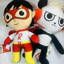 Ryans World Plush Stuffed Animals Ryan Red Titan & Combo Panda Pillows - $26.72