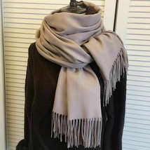 Long Women Scarf Cashmere Solid Color With Tassel Thin Scarves Wrap Shaw... - $7.59