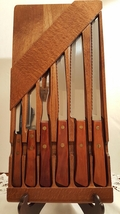 Robinson Knife Co. Vintage Stainless Steel Cutlery Set with Wood Wall Mo... - $45.00