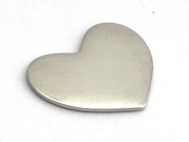 Authentic Pandora Heart Plate, Medium, Sterling Floating Charm, 792120 New - $23.74