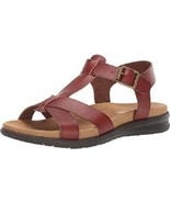 EASTLAND CASEY WOMEN'S BROWN T STRAP SANDAL, #2192-02 - £22.89 GBP