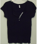 Womens Old Navy Navy Blue Cap Sleeve Top Size XL - $5.95