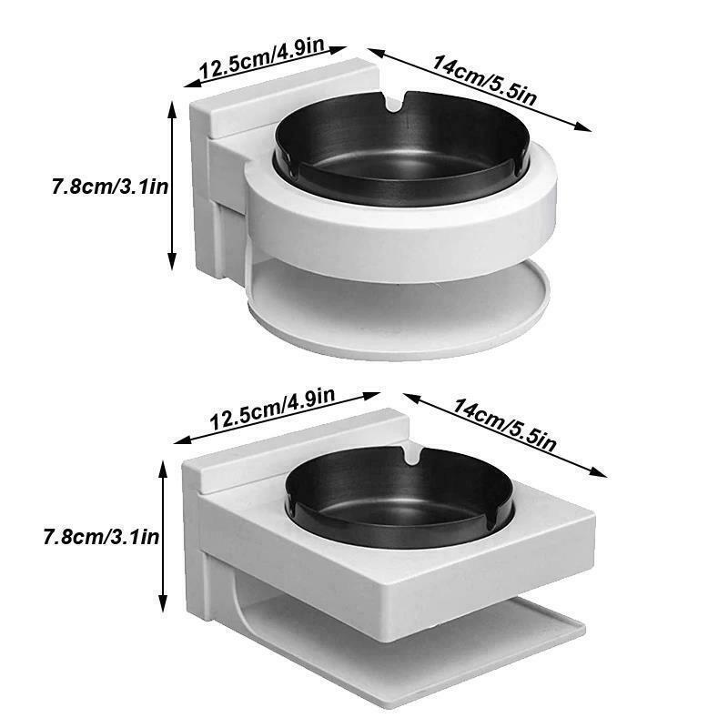 Stainless Steel Ashtray Creative Wall Mounted Bathroom Ash Storage Portable Box