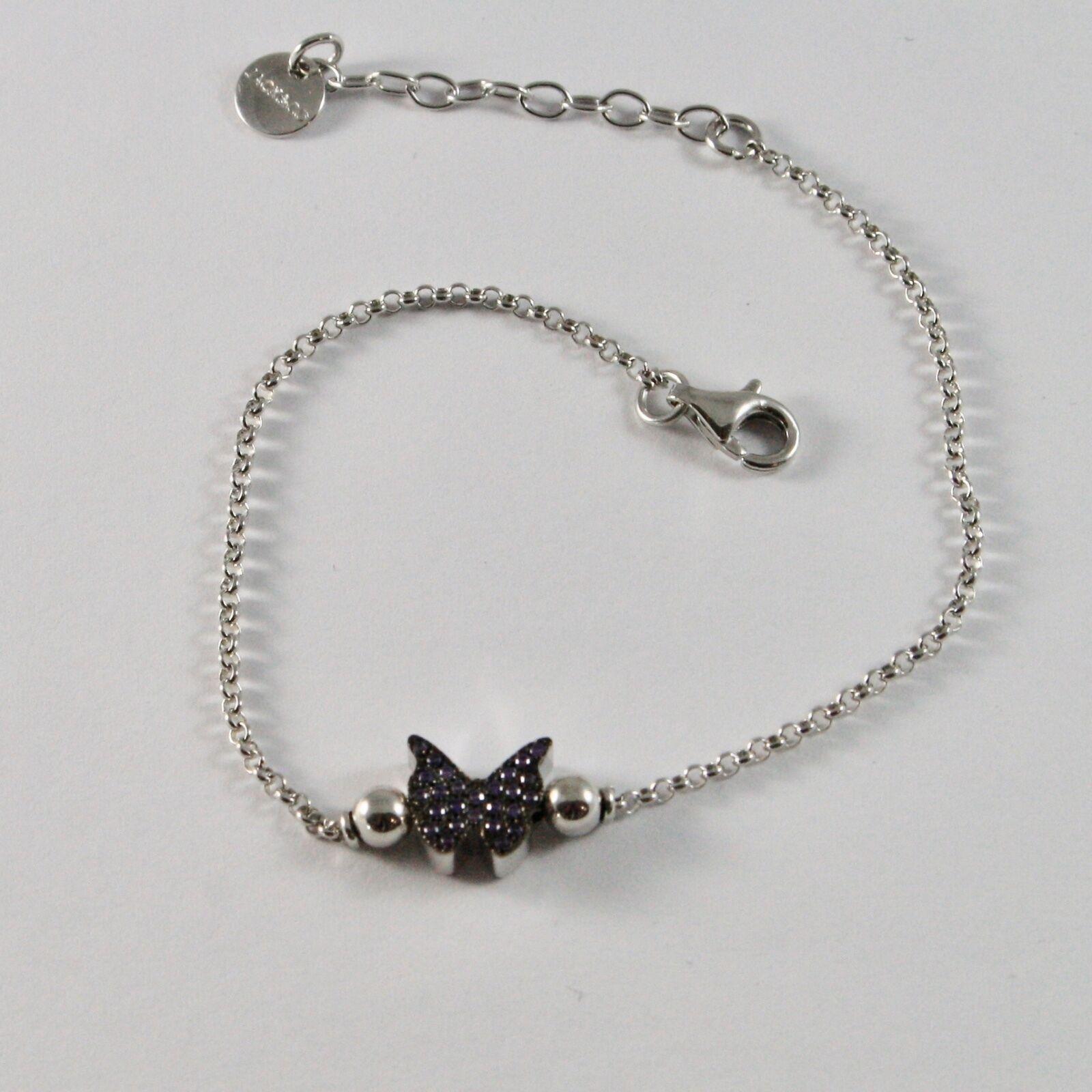 Silber Armband 925 Jack&co mit Schmetterling Stilisiert Zirkonia Cubic JCB0886