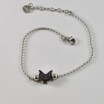 Silber Armband 925 Jack&co mit Schmetterling Stilisiert Zirkonia Cubic J... - $78.79