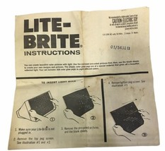 Vintage Lite-Brite Instruction Manual 1973 - $7.70