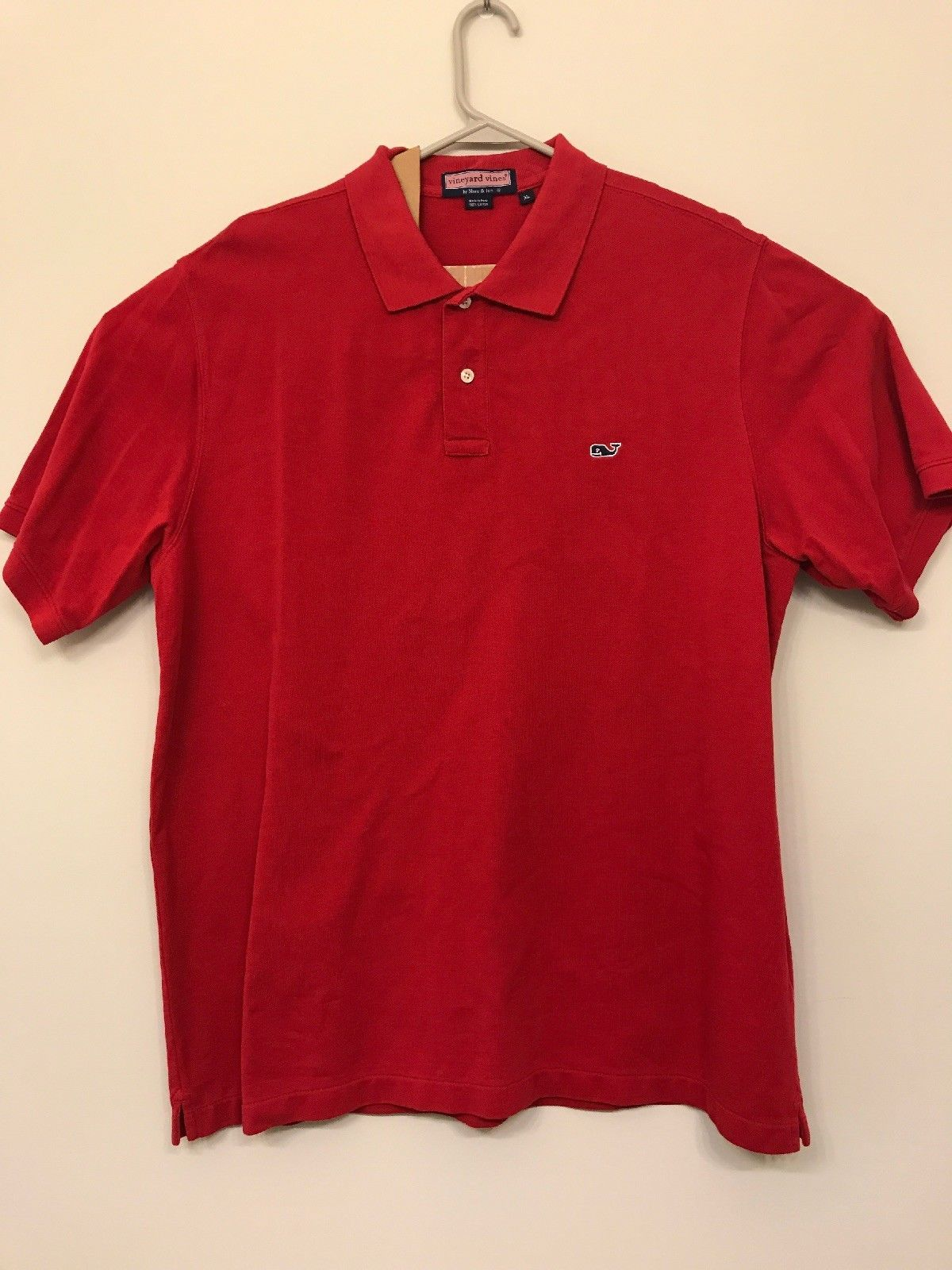 Primary image for Vineyard Vines Men's LARGE Red Short Sleeve Cotton Polo