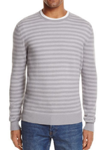 The Men's Store at Bloomingdale's Stripe Cotton Blend Crewneck Sweater,X... - $49.49
