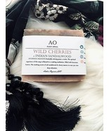 Organic Wild Cherries & Indian Sandalwood Butter Bar Handcrafted Soap Hy... - $1.00+