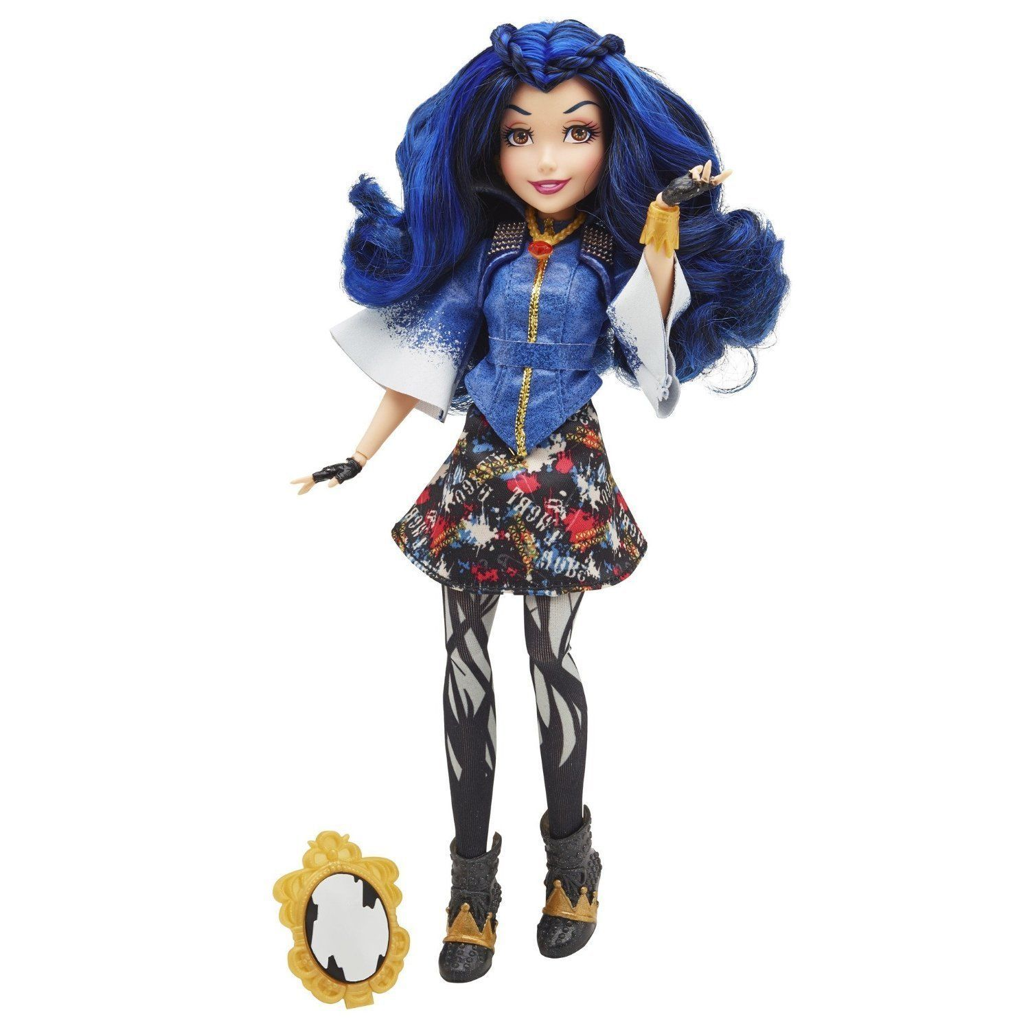 Disney Descendants Villain Signature Evie Doll in Blue and Red, Hasbro, 6+