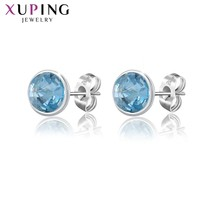 Xuping Lovely Round Design Studs Earrings Colorful Crystals from Swarov... - $20.69