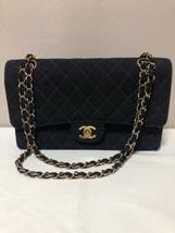 Auth CHANEL Shoulder Bag Navy Matelasse Vintage CHANEL Classic Flap Medi... - $1,052.37