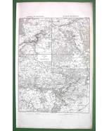 1859 ANTIQUE MAP - France Environs of Montereau, Brienne & Montmirail - $20.24